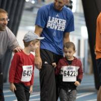 Little Lakers prepare for Kids Fun Run